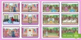 Cinderella Story Sequencing Cards (4 per A4)