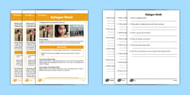 KS1 Refugee Week Differentiated Reading Comprehension Activity