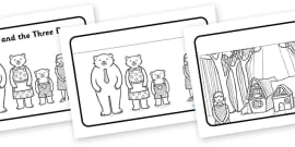 Goldilocks and the Three Bears Story Sequencing (Speech Bubbles)