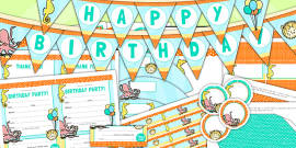 Under the Sea Themed Birthday Party Pack