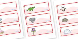 Koala Themed Editable Drawer-Peg-Name Labels