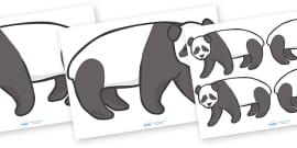 Editable Panda (A4)