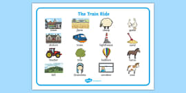 The Train Ride Word Mat (Images)