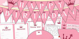 Princess Themed Birthday Party Pack
