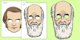Charles Darwin Role Play Masks