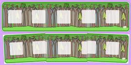 Tree Themed Visual Timetable Display Banner