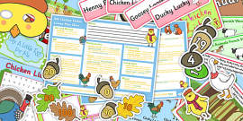 Chicken Licken KS1 Lesson Plan Ideas and Resource Pack
