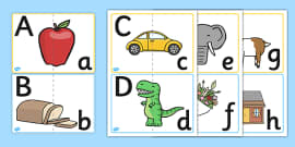 Upper and Lower Case Letter Matching activity
