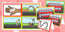 Bus Station Role Play Challenge Cards