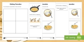 Pancake Recipe Instructions Differentiated Activity Sheets