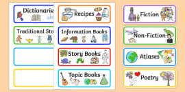Library Role Play Book Labels