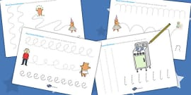 Pencil Control Sheets to Support Teaching on Biscuit Bear