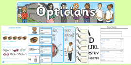 Opticians Role Play Pack