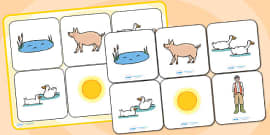 Matching Cards and Board to Support Teaching on Pig in the Pond