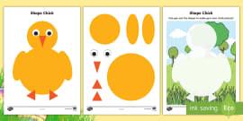 Chick 2D Shape Activity Sheets