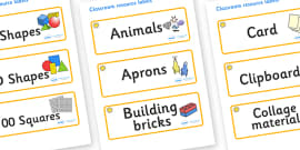 Sunshine Themed Editable Classroom Resource Labels