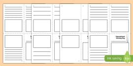 International Literacy Day Mini Book Activity Sheet