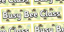 Busy Bee Themed Classroom Display Banner