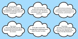 I Have a Dream Speech Editable Clouds