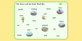 The Sower and the Seeds Word Mat