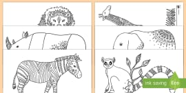 Zoo Mindfulness Colouring Sheets