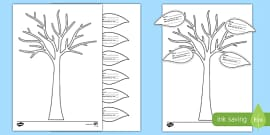 All About My Family Tree and Leaf Activity Sheet