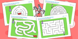 The Princess and the Pea Differentiated Maze Activity Sheet Pack
