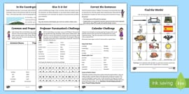 Year 1 Capital Letters and Full Stops Learning From Home Activity Booklet