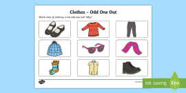 Clothes Odd One Out Activity Sheet