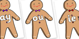 Phase 5 Phonemes on Gingerbread Man