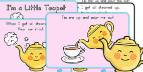 I'm a Little Teapot Story Sequencing A4 Black and...