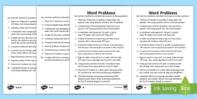 Finding The Perimeter Worksheets Word Mixed Multiplication And Division Tests Up To X Tables Worksheet 1 Dna Structure with Transitional Phrases Worksheets Excel Long Multiplication Word Problems Differentiated Activity Sheets Fractions Decimals And Percents Worksheets 7th Grade Word