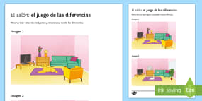 My Living Room Spot The Differences Game Spanish