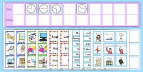 KS2 Visual Timetable Resour...