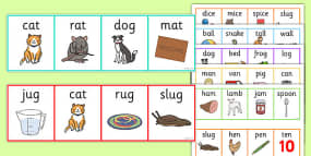 Rhyming Odd One Out Strips