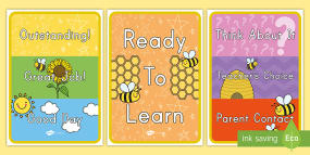 Bee Themed Behavior Display...
