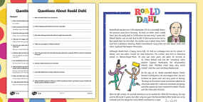 UKS2 Roald Dahl Differentiated Reading Comprehensi...