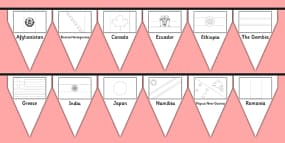 Flags of the World Colouring Sheets  Flags of the world flags