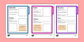 Greek God Fact File Template