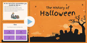 The History of Halloween PowerPoint and Comprehens...