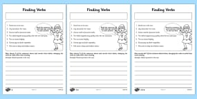 Finding Verbs Activity Shee...