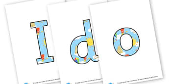 seaside letters - display lettering - The Seaside Display Primary Resources, beach, sun, sand