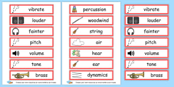 Sound Key Words - Music Literacy Primary Resources -  Primary Resources, musical in