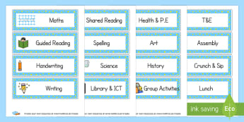 Daily Timetable - Visual Timetables Primary Resources, visual, timetables, routine
