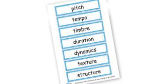 Music Vocab Flashcards - Music Literacy Primary Resources -  Primary Resources, musical in