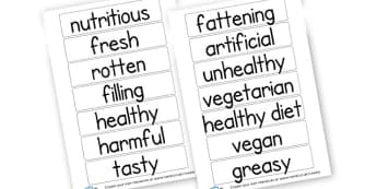 Food Descriptions Cards - Food, Drink and Eating Literacy Primary Resources - Food & Drink