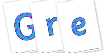 Greek Day - display lettering - Greek, Languages, Greek Language, Primary Resources, MFL