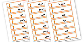 100 High Frequency Word Cards - High Frequency Words Activites Primary Resources, letters, sounds