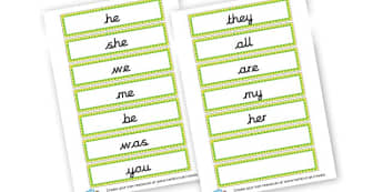 Phase 3 Tricky Words - Phase 3 Visual Aids Primary Resources, Phase One, Letters, sounds