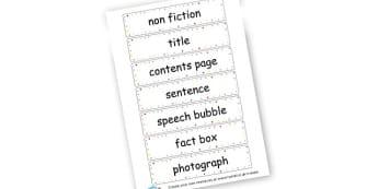 Non Fiction Features - KS2 Story Writing Aids, Story Writing, Literacy, KS2 English